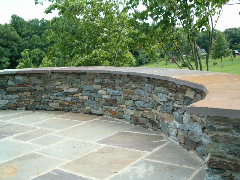 stone patios | divine landscaping, inc. - Natural Stone Patio Designs